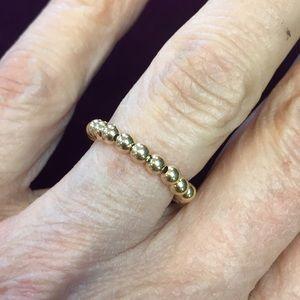 14k Gold ball ring